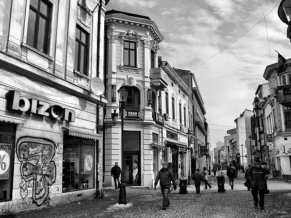 Old Town of Bucharest - Romania Black and White photography by Daliana Pacuraru
