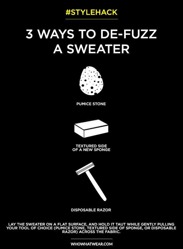 #StyleHack: 3 Smart Ways to De-Fuzz Sweaters | WhoWhatWear