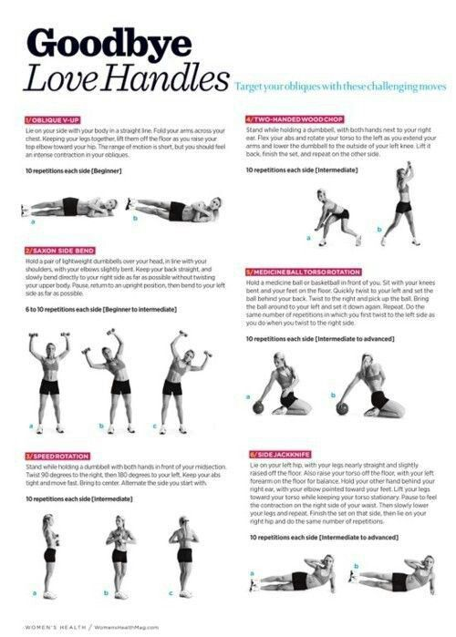 Good bye love handles- workouts that help burn belly n side fat to tone n tighten your muffin top.
