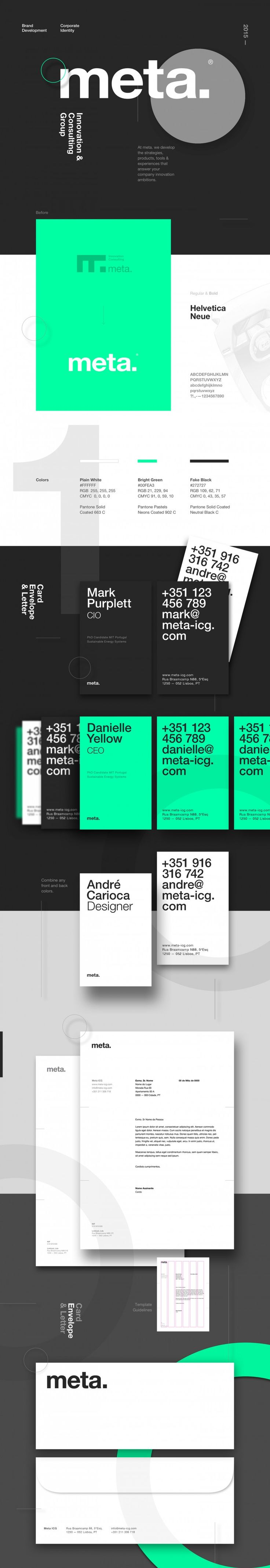 Meta / Visual Identity / Corporate Design / Type / CI / Graphic Design / Branding