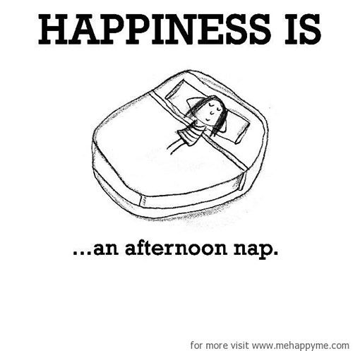 Happiness #21: Happiness is an afternoon nap.
