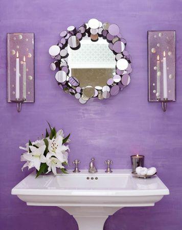 Love this purple bathroom by Carey Karlan