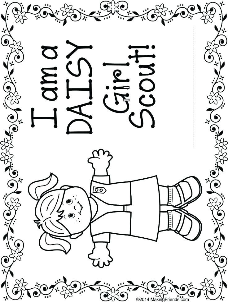 10+ Daisy coloring pages girl scouts info