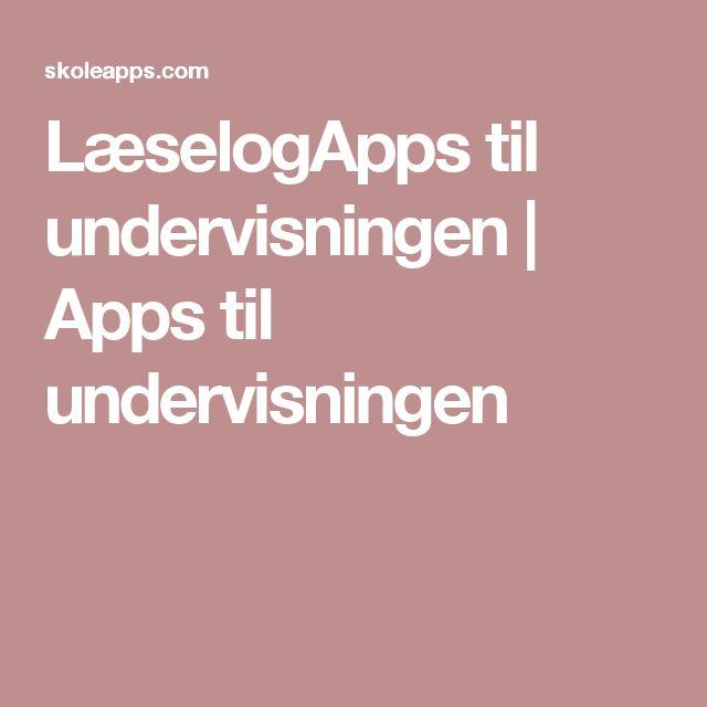 LæselogApps til undervisningen | Apps til undervisningen