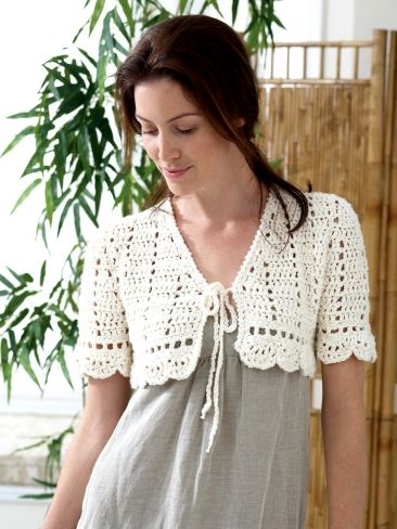 Summer Shrug Knitting Pattern : 25+ best ideas about Crochet bolero pattern on Pinterest Crochet boleros, B...