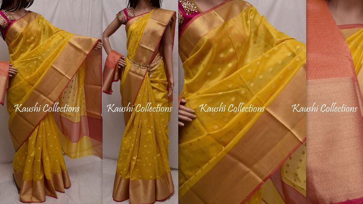 2900RsBOOKEDTissue Kota saree with big zari border butaBlouse: Pink tissue(As shown in the pic)To order please WhatsApp 9949519207or mail us @ sparklingfashion3@gmail.com 26 October 2016