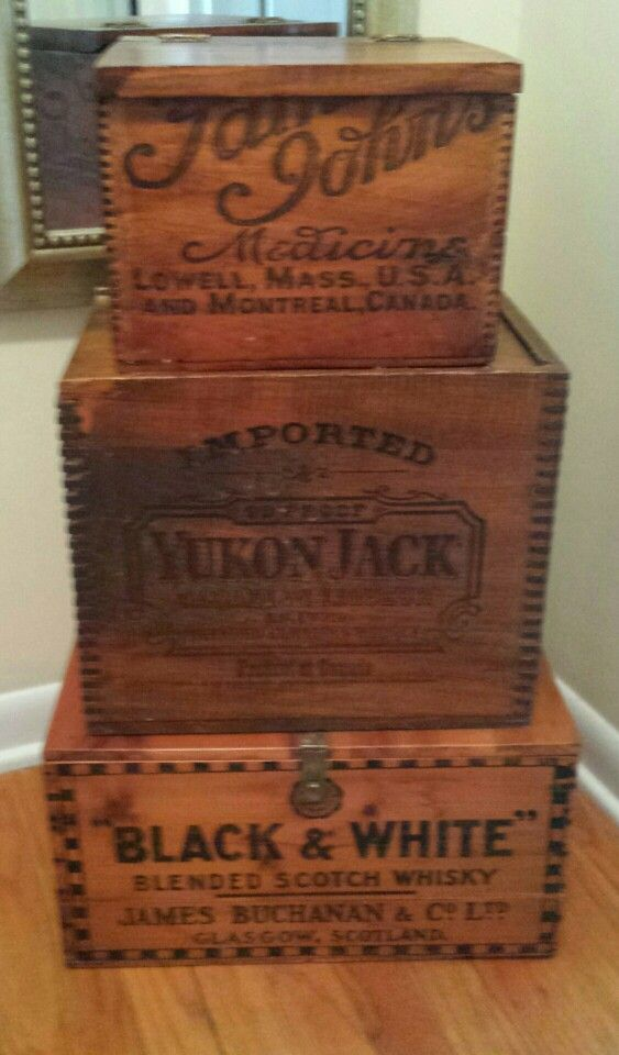 Love old wooden boxes/crates