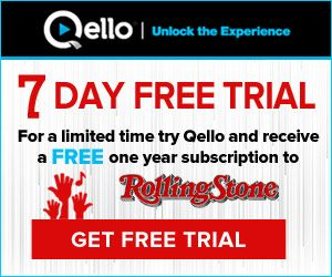 » LIMITED TIME OFFER: Try Qello and receive a FREE one year subscription to Rolling Stone!! Bargain Hound Daily Deals