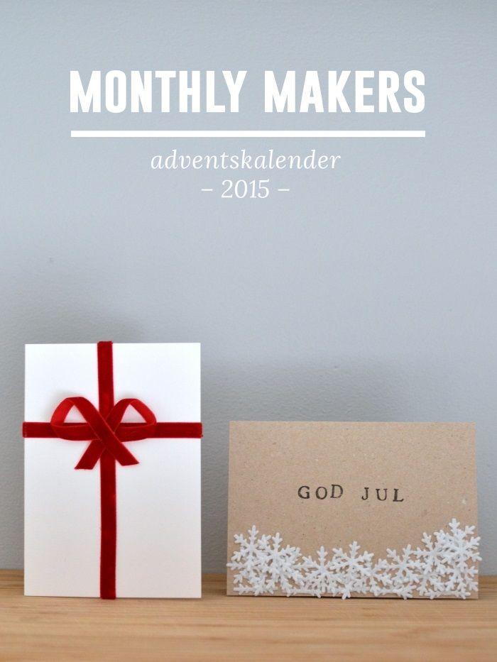 Idag har det blivit min tur att öppna en lucka i Monthly Makers adventskalenderoch idag tänkte jag visa olika varianter på julkort man kan göra och skicka iväg till nära och kära. Tänk på att korten…