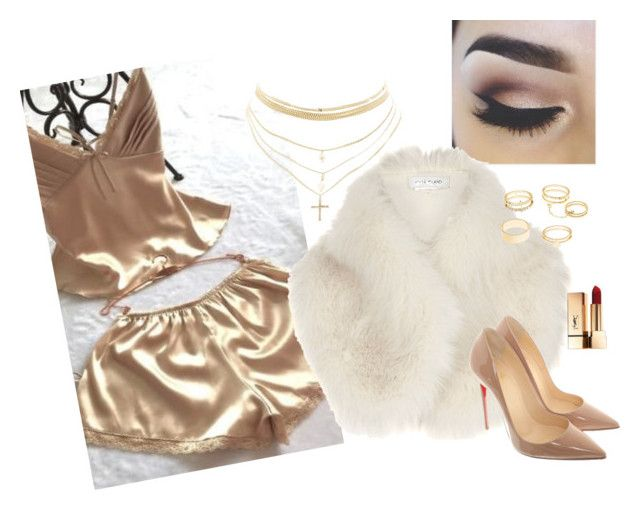 """""""#wildmila : first intimate debut"""" by jemila-mentari on Polyvore featuring LiLiPearl, River Island, Charlotte Russe and Christian Louboutin"""