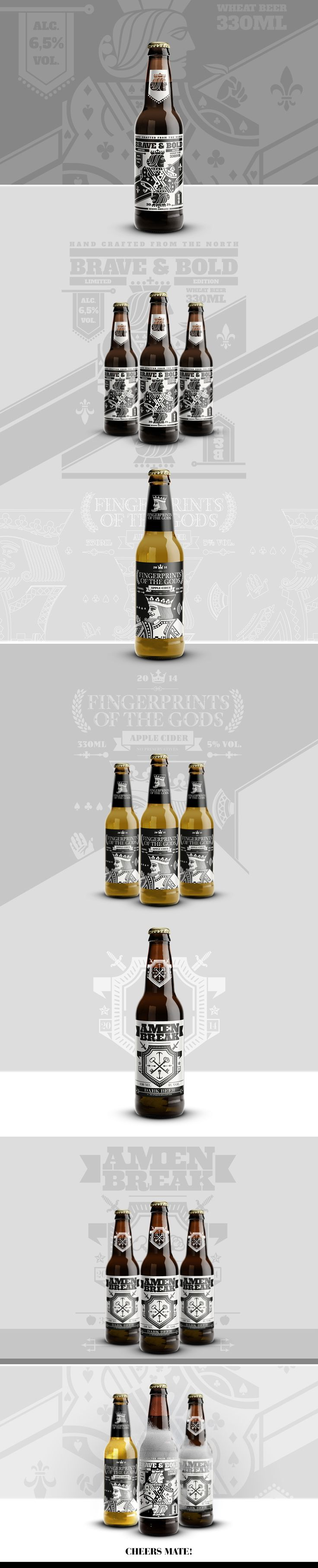 Beverage packaging design, 2014. Personal project