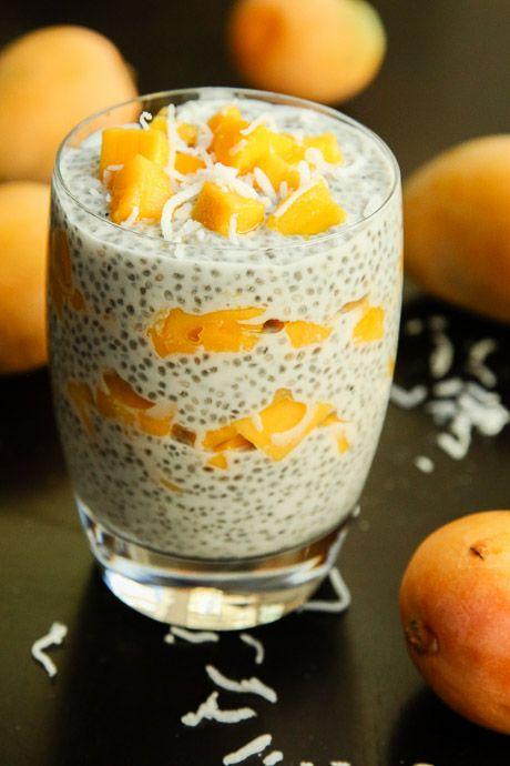 Fresh Mango Coconut Chia Seed Parfait (vegan, gluten-free) - Vegetarian Gastronomy
