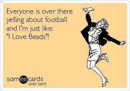 Haha Beading > Football #jewelry #statement #humor #womeninspiratopn (scheduled via http://www.tailwindapp.com?utm_source=pinterest&utm_medium=twpin)
