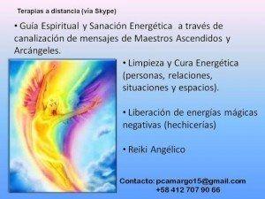 Terapia a Distancia (vía Skype): Guía espiritual con Sanación Energética a través de canalización de mensajes de Maestros Ascendidos y Arcángeles Abril 2016