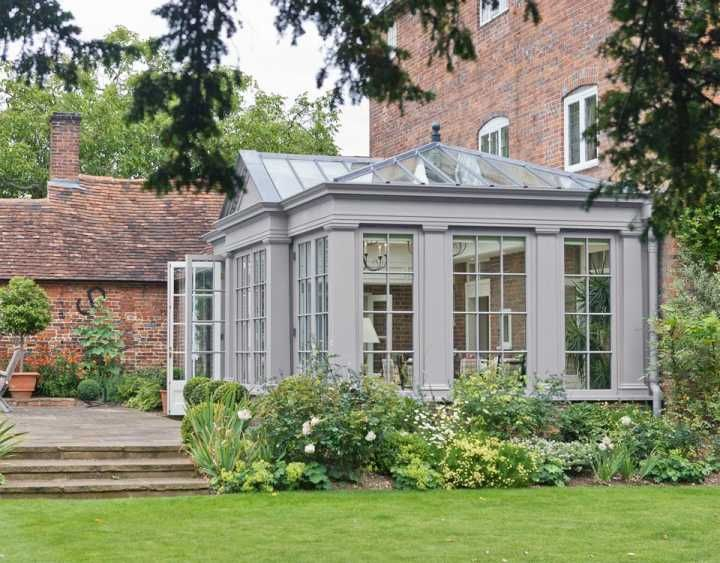 Classical orangery with feature pediment