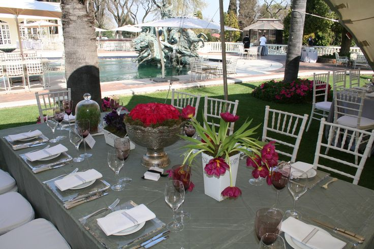 Summer Garden Wedding Long Tables