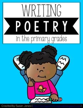 Poetry writing unit for the primary grades! Students will get in tune with their senses and their feelings as they begin writing poetry. Both form poetry and free-verse poetry are included!