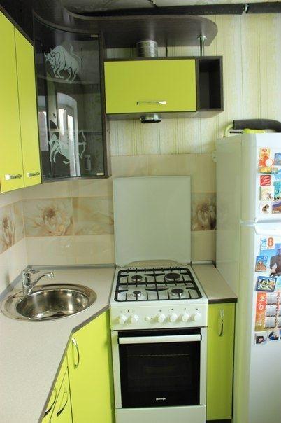 Ремонт и дизайн маленькой угловой кухни 5 кв.м. (29 фото)