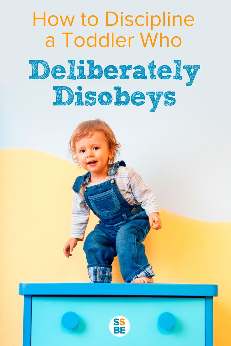 How to Discipline a Toddler Who Deliberately Disobeys.
