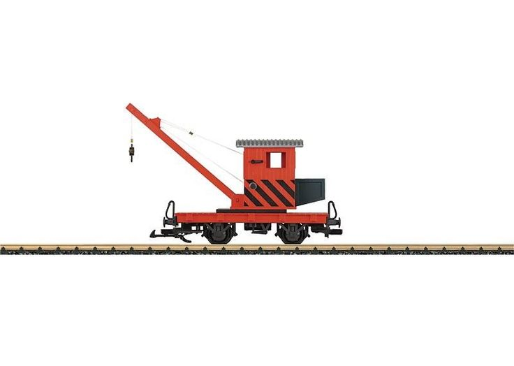 LGB G SCALE TOY TRAIN CRANE CAR 94043 #LGB