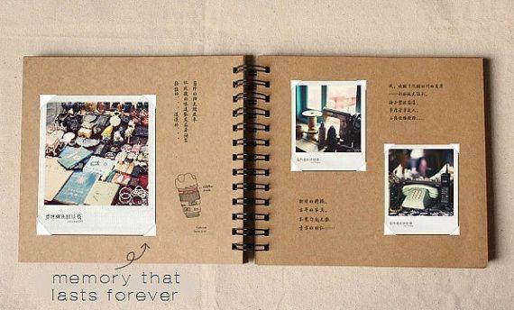 Wedding Guestbook - 98 pages// Kraft Scrapbook Album // Spiral Bound // MADE TO…