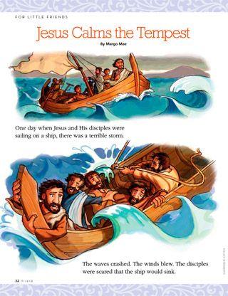 Jesus Calms The Tempest