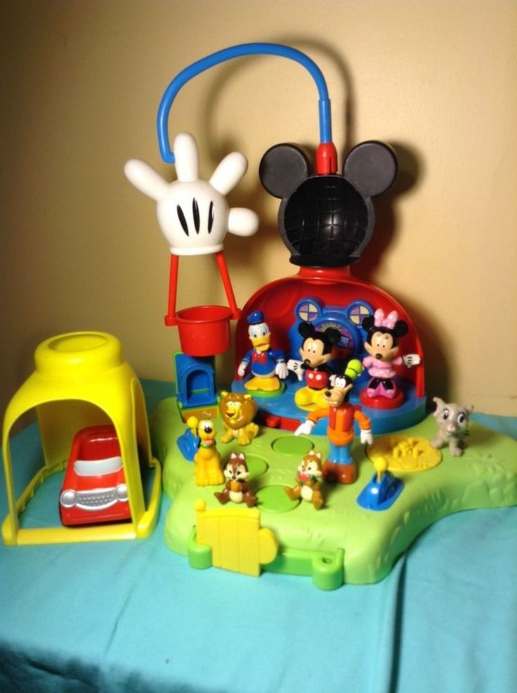 Very Rare MICKEY MOUSE CLUBHOUSE PLAYSET Minnie Pluto Sounds Music FIGURES LOT