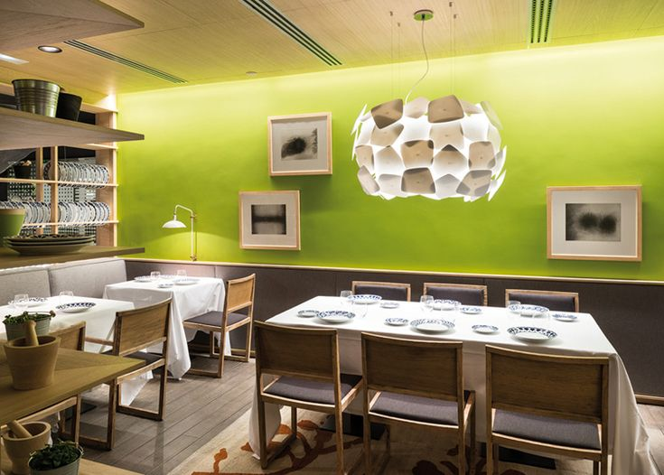 Biscuit pendant light fitting, design by La Granja for Modiss - installed in the Barcelona restaurant Petit Comite