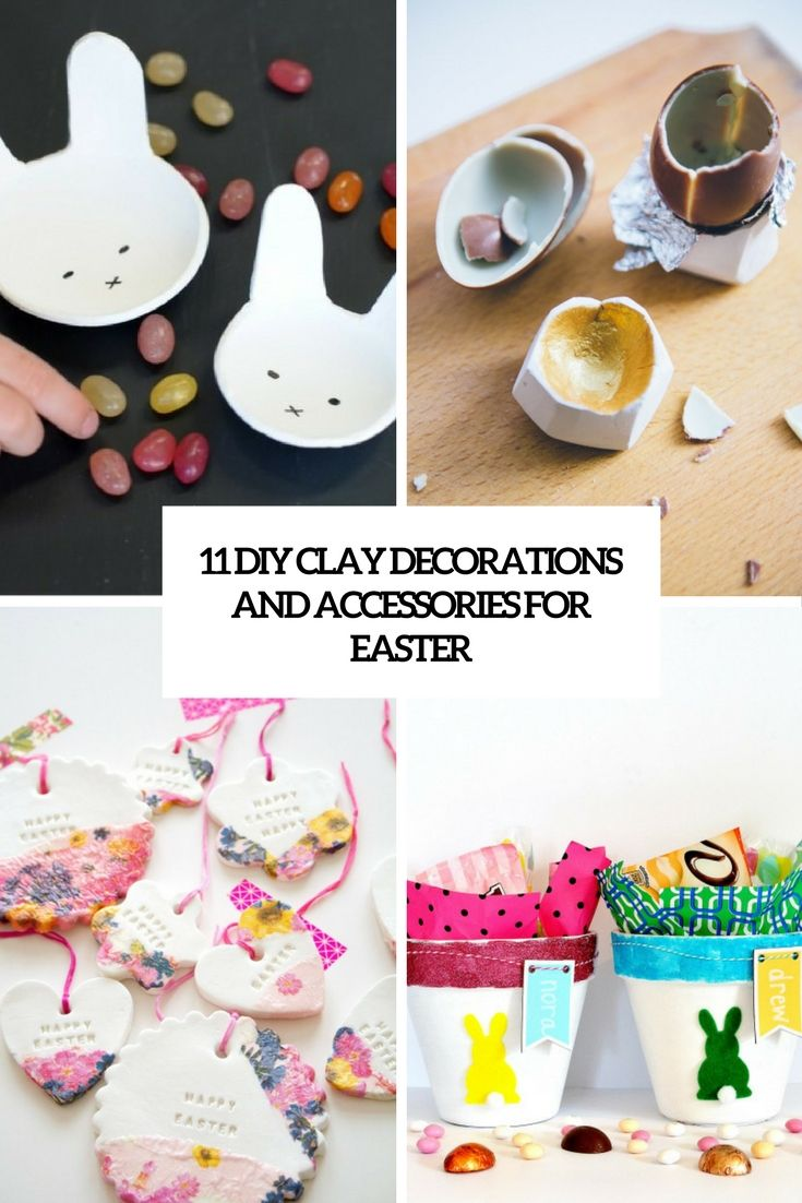 Diy clay decorations and accessories for easter | www.homeology.co.za