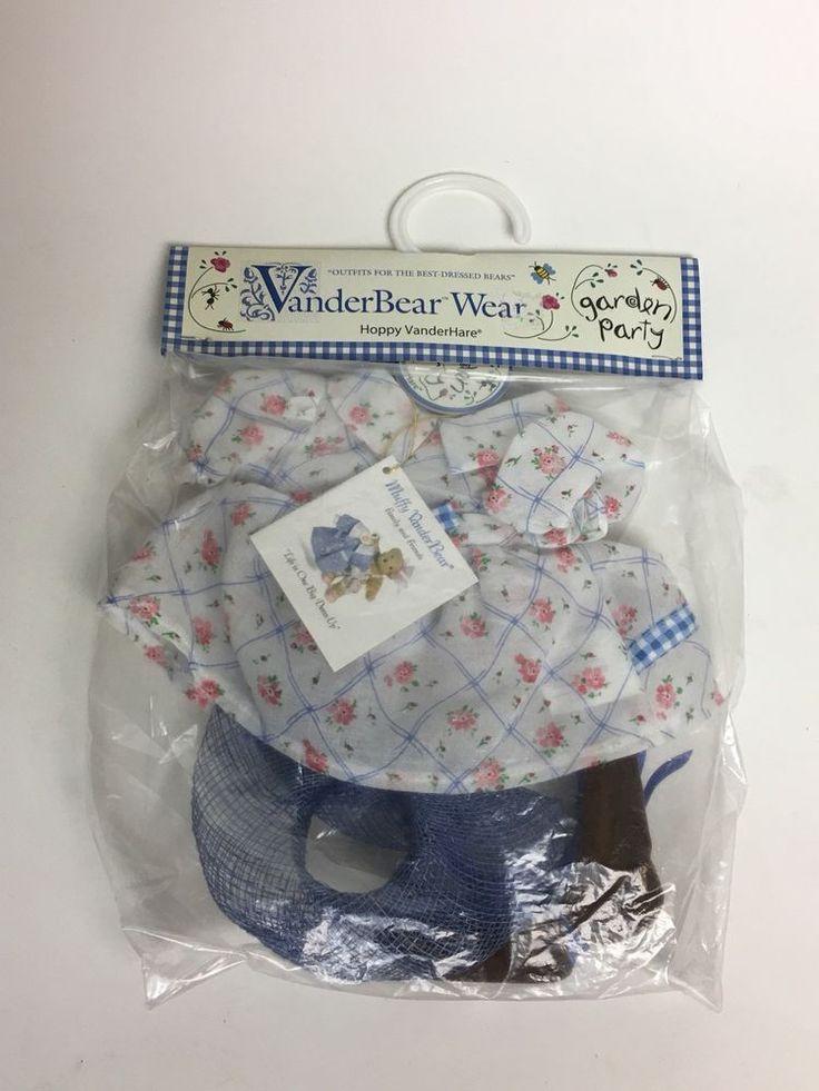 VANDERBEAR Wear Hoppy VanderHare Garden Party Outfit, NIP #MuffyNABCO