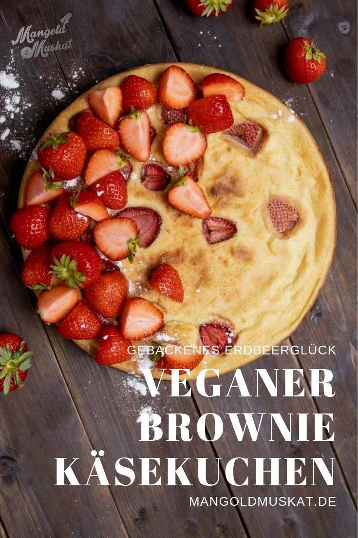 Brownie Käsekuchen mit Erdbeeren