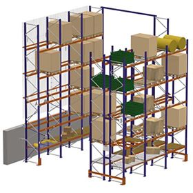 Conventional Pallet Racking systems for sale! The best solution for warehouses/distribution centers that need to store products with a wide range of pallets. These systems make it easy to control stock, allow each pallet to be directly accessed and are adaptable to any merchandise volume, weight or size! #materialhandling #palletrack #conventionalpalletrack