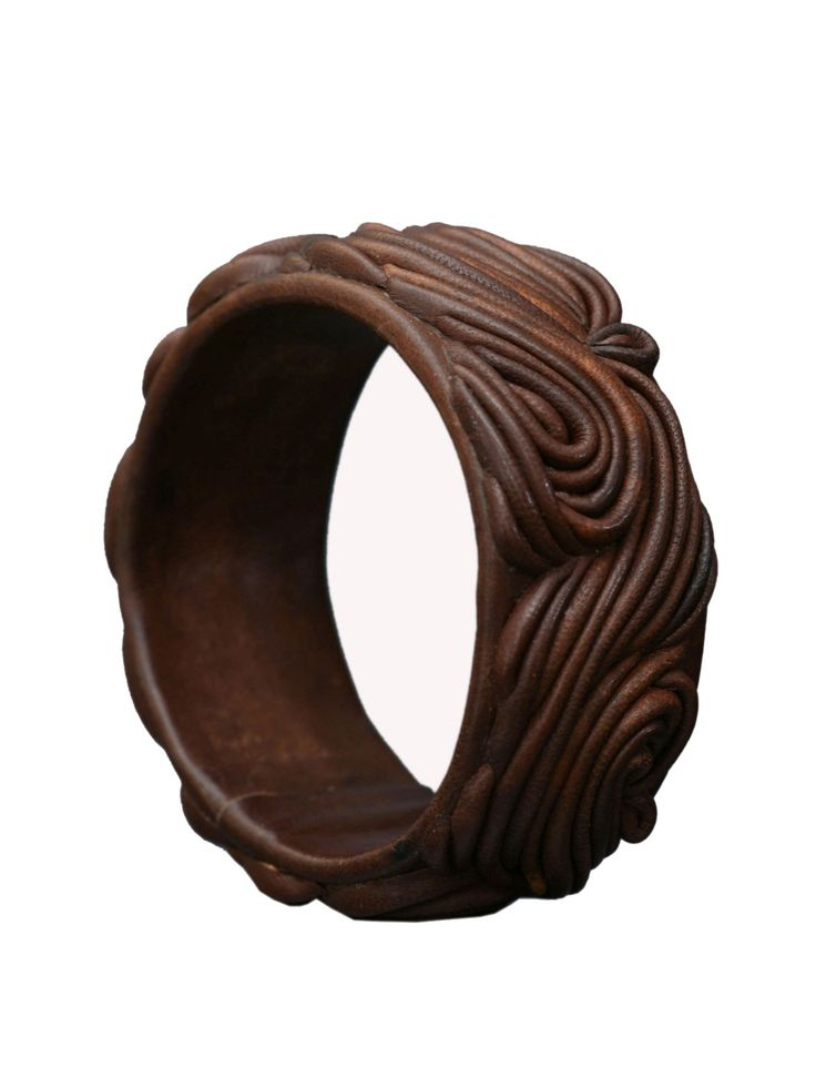 London Collection - Brown Leather Bangle Bracelet - at - London Jewelers