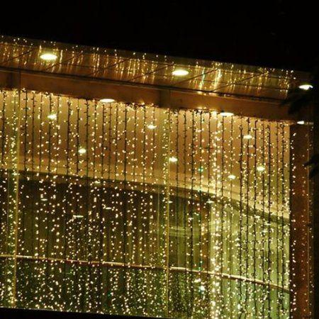 Fuloon 3M x 3M 300 LED Guirnaldas Decorativas al aire libre Fiesta navidad hadas de la secuencia cortina de luz de la boda 8 modos para la o...