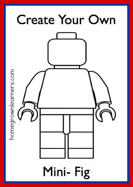 printable legos | Lego Freebies: Create Your Own LEGO Mini-Figure Printable! | Free ...