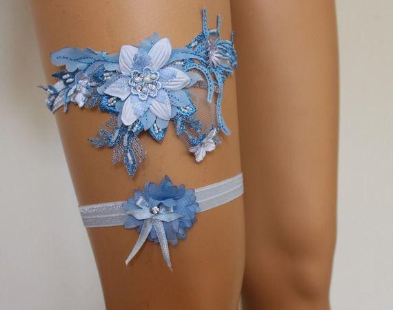 le mariage est jarretié dentelle bleu Jarretière nuptiale, accessoires de mariage, Lingerie nuptiale, Lingerie de mariage,