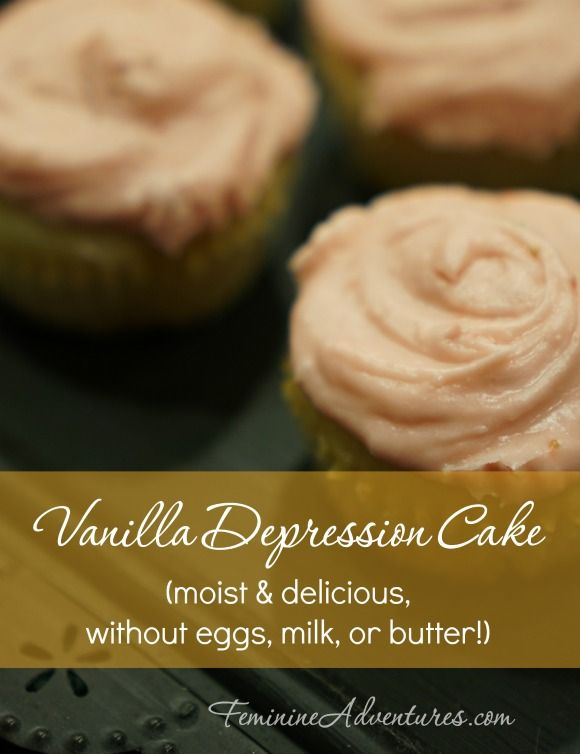 Need cake, but don't have eggs, milk, or butter? Let this Great-Depression inspired recipe come to the rescue!