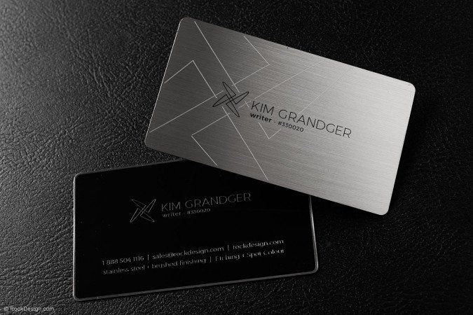 Stainless Steel Business Cards Lawyer Business Card Business Card Template Design Business Card Design