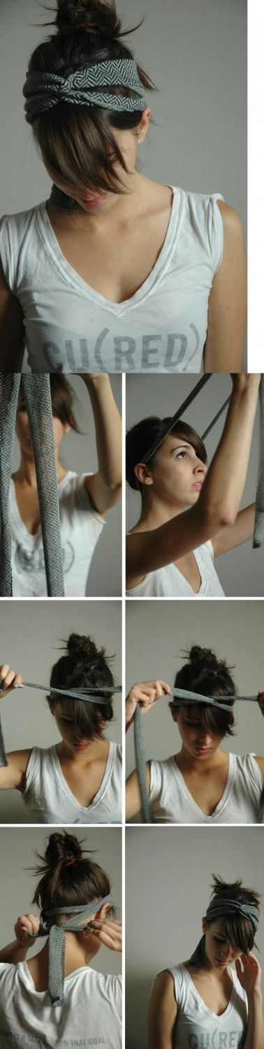DIY: make your own headband out of an old tie