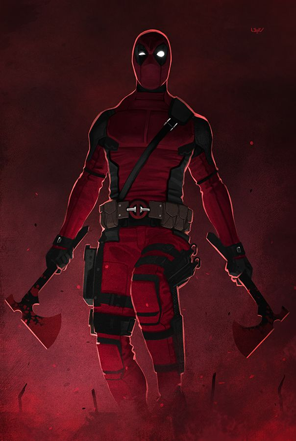 – Overhanging – - Deadpool fan art by wyv1 (Yvan Quinet)