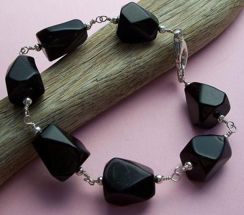 Black Onyx Glam Bracelet