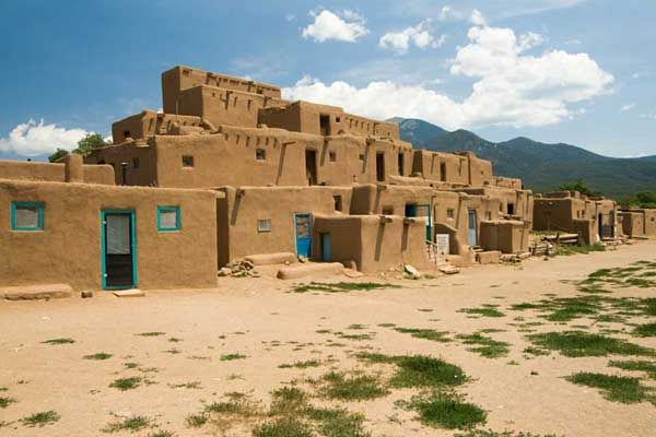 ouest americain - nouveau mexique - lancienne pueblo de taos