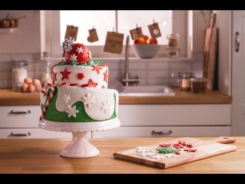 Rezept: Weihnachtliche Topsy Turvy Torte von Dr. Oetker