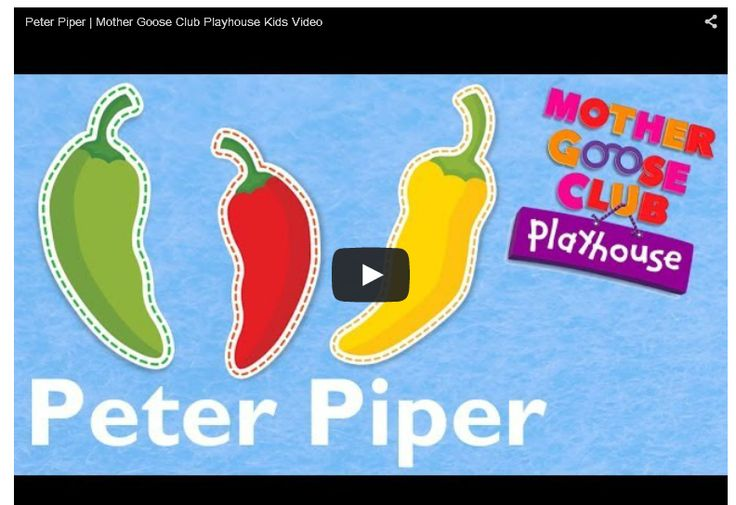 Peter Piper – Mother Goose Club Playhouse Kid Video