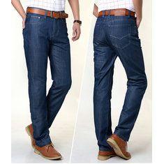#Banggood Мужчины прямые ноги свободно завышенной талией весной осенние джинсы размер 30-42 (1083747) #SuperDeals