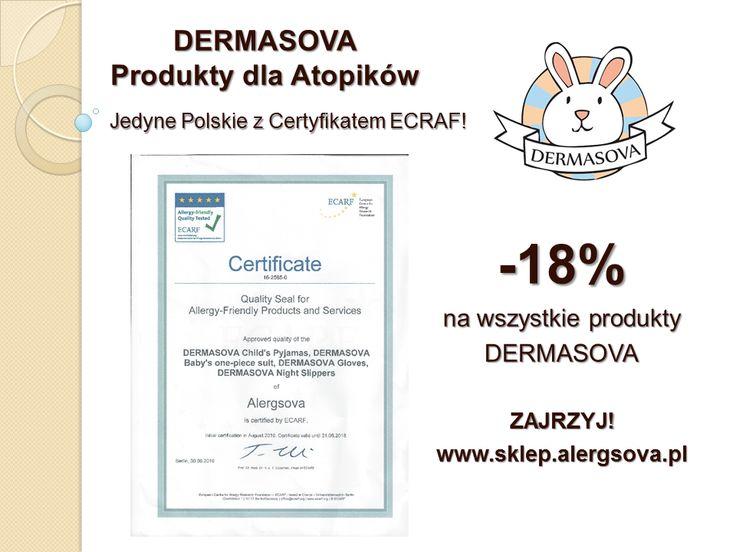 Z okazji otrzymania przez produkty DERMASOVA ceryfikatu ECARF obniżamy ceny naszych produktów antyroztoczowych. W prezencie dla Was od nas. Zajrzyjcie już dziś na www.sklep.alergsova.pl. Poniformujcie znajomych o tej okazji, żeby jej nie przegapili. Zapraszamy! #alergia #astma #roztocza #atopowe #promocja #ecarf