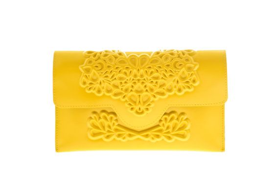 High-end vegan handbags: MeDusa Yellow Clutch Purse  An exclusive vegan handbag designer from Tel Aviv, Israel #medusaveganhandbags #bestveganhandbags #veganhandbagcompanies #veganhandbagdesigners #veganhandbagscrueltyfree #bestgiftsvegan #vegangiftsonline