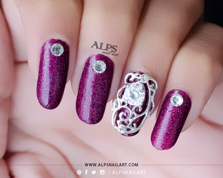 OPI DS Extravagance Swatches with BPS Nail Jewellery for My Anniversary Nails @alpsnailart