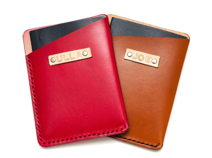 Available in a variety of colors, this vegetable-tanned leather sleeve is no-frills, yet still luxurious and stylish. Extra pockets and paper inserts are great—but if it's just your passport you're looking to protect, this single sleeve, stitched, and labeled pouch from Joseph Henry Workshop is perfection.  $51.31