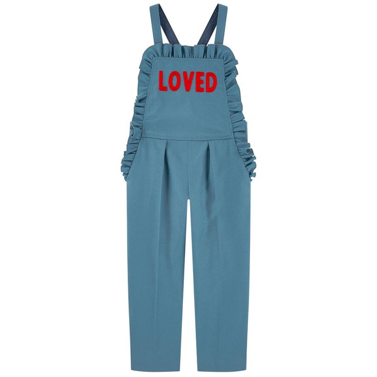 Wool and cashmere overalls